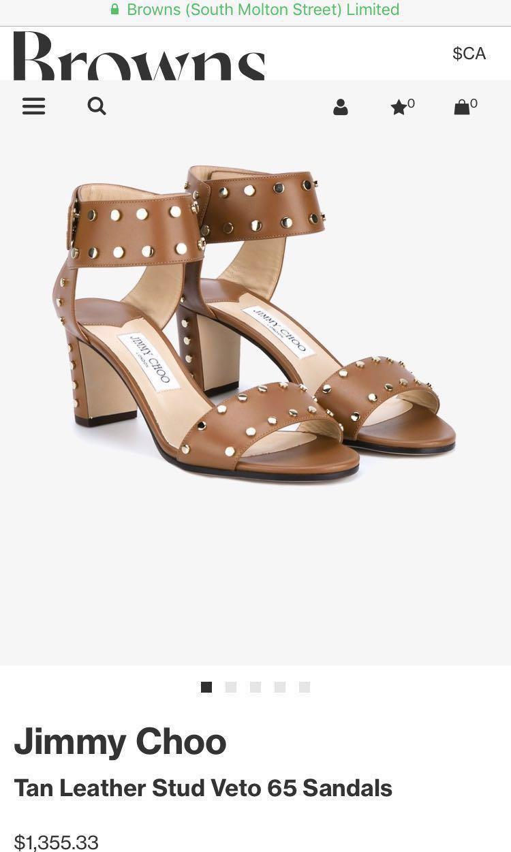 Never worn Jimmy Choo brown heels