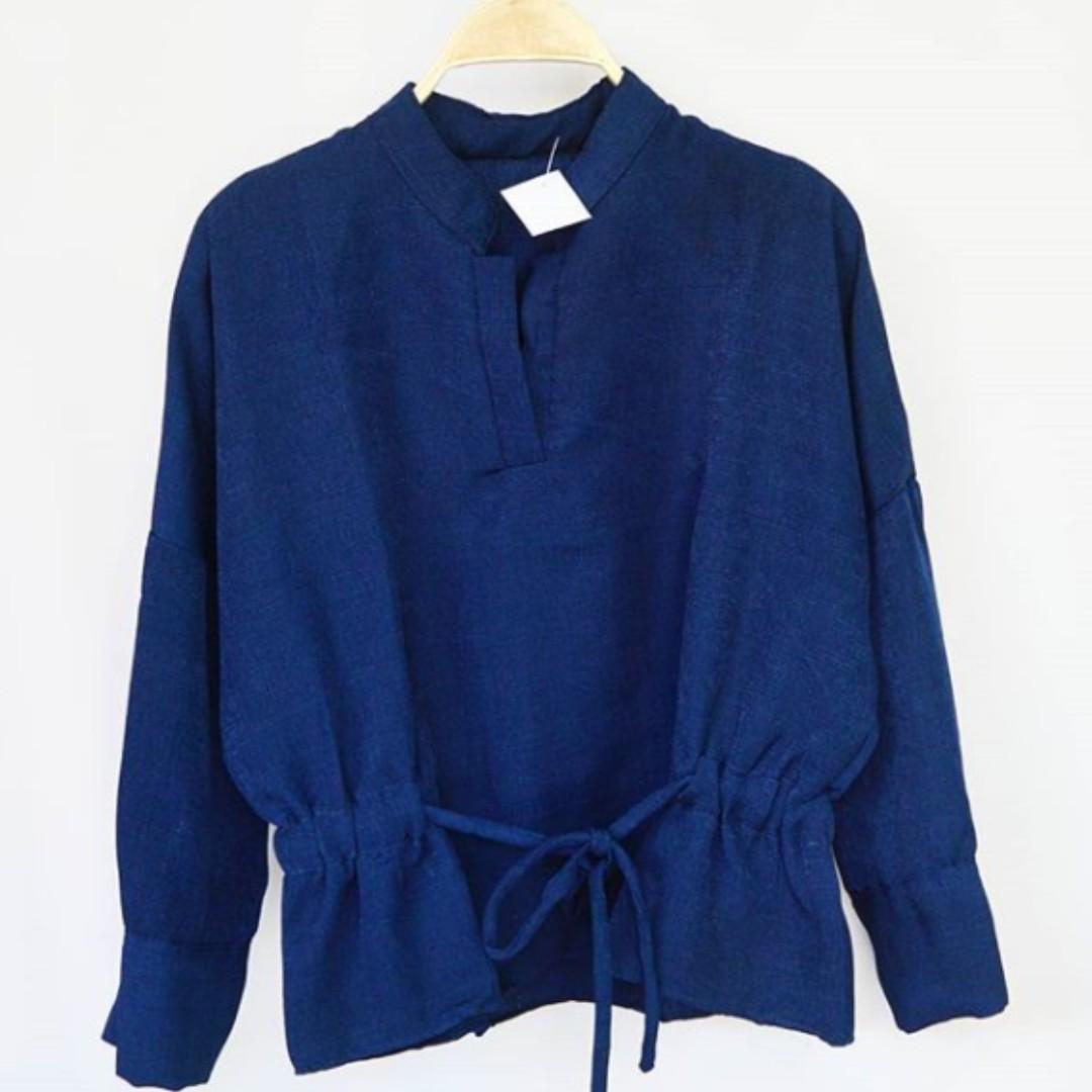New Basic Milea Blouse Preloved Fesyen Wanita Pakaian Di Baju Photo