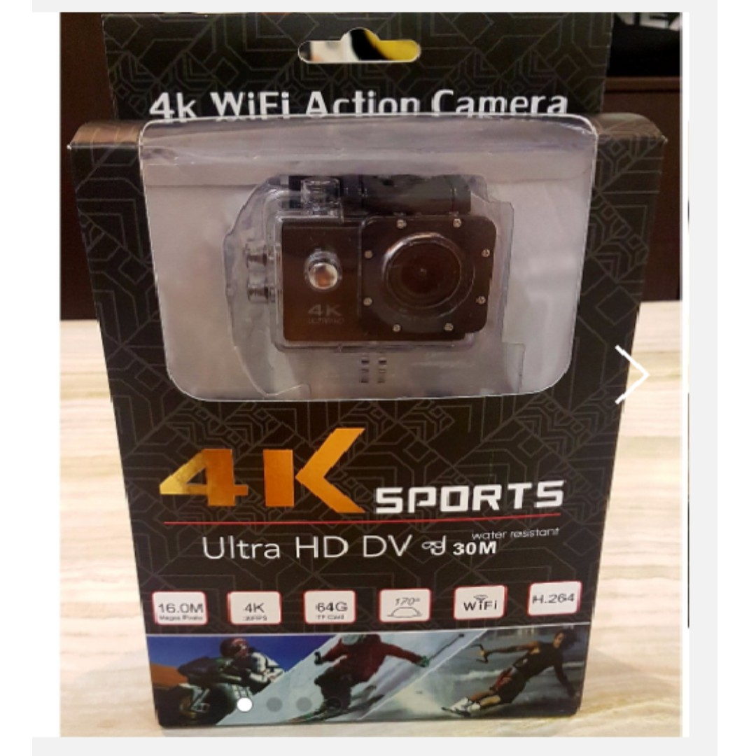 New Wifi 4k Ultra Hd Wide Angle Sport Action Camera With Remote H3r Bult In Control Cam Photo