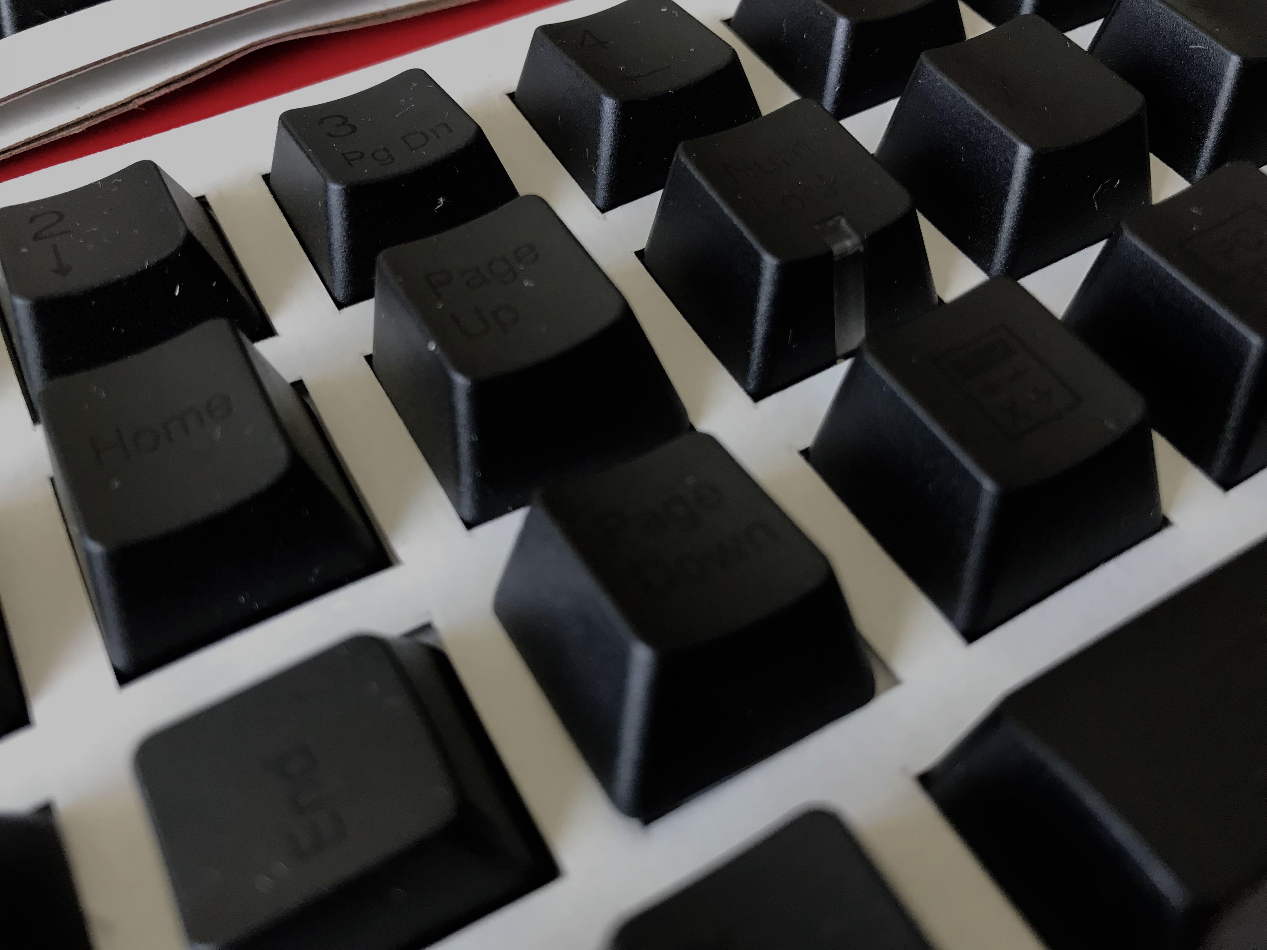 PBT Cherry MX Keycap set - black on black by ducky