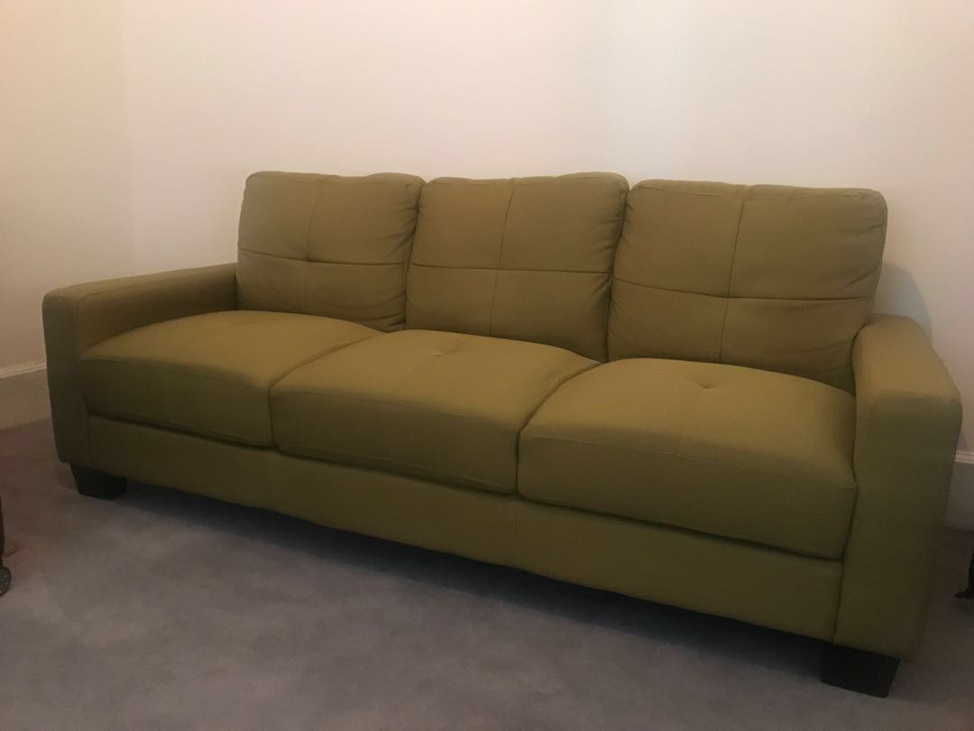 Pistachio Green 3 Seater Sofa