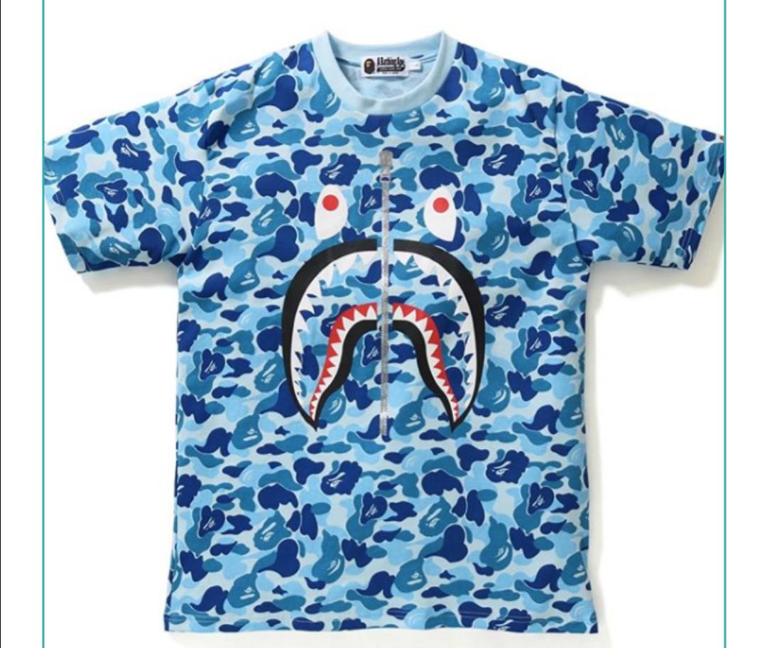 bape t shirt blue camo