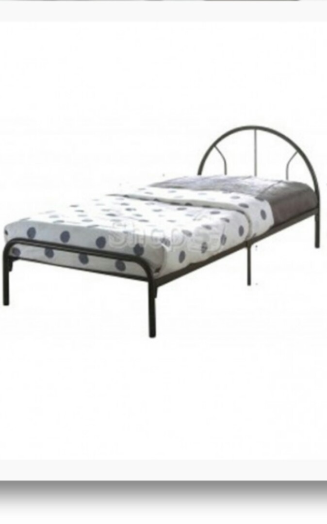 Single Metal Bed Frame, Furniture, Beds & Mattresses on Carousell