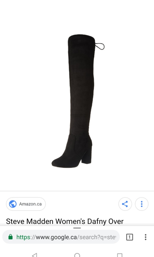 Size 7 over the knee Steve Madden Boot in Black
