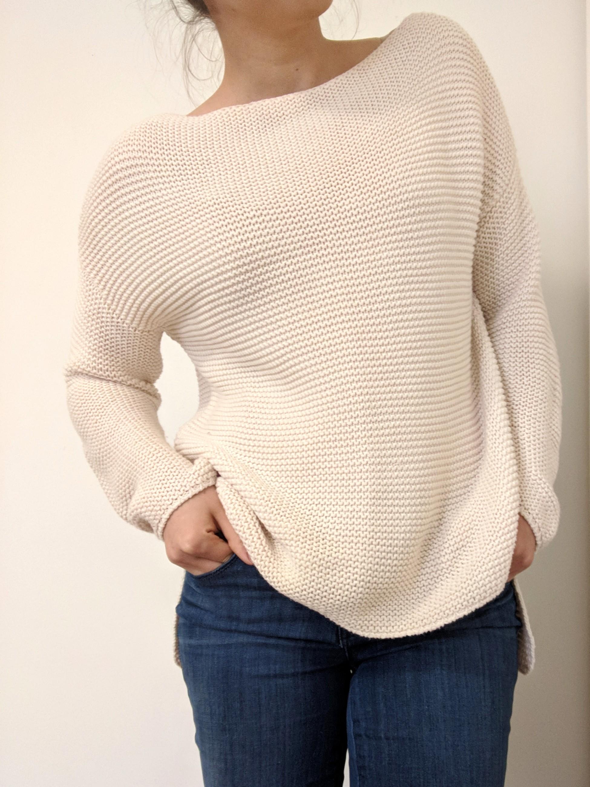 Stradivarius Cream Knitted Sweater