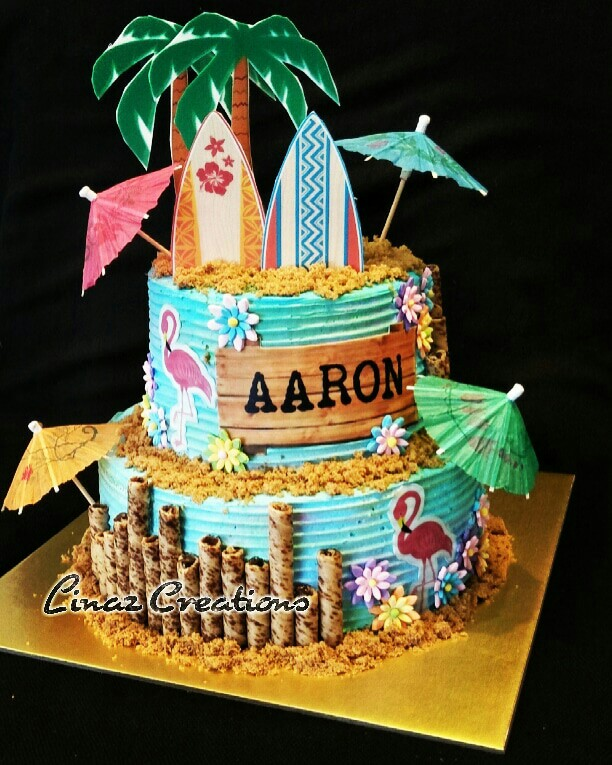 Tropical Theme Birthday Cake Need a CUSTOMISED CAKES? Contact us at ...