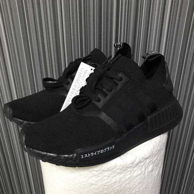 a817f6f07 UK3.5 US5 Adidas NMD R1 Primeknit Japan Boost Triple Black