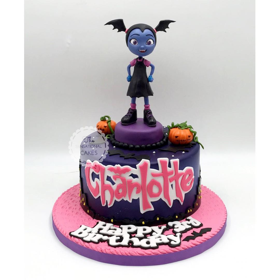Vampirina theme cake girl birthday #singaporecake