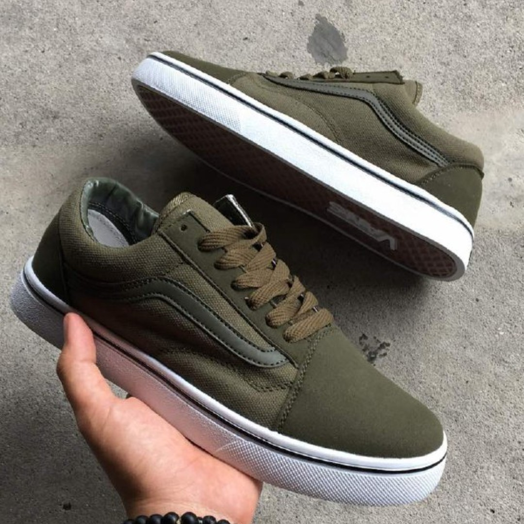 VANS OLD SKOOL OLIVE GREEN READY STOCK 844a8ad4f
