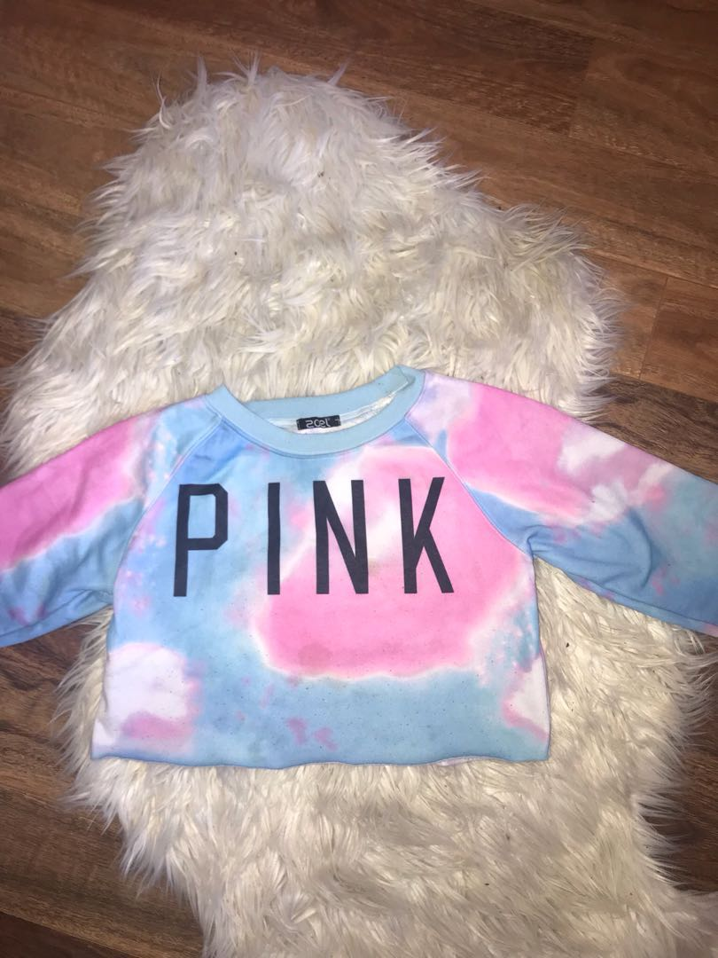 Victoria's Secret PINK cropped sweatshirt