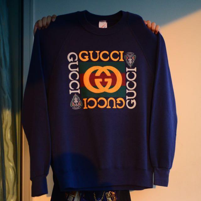 20f64537b4a Vintage Gucci bootleg Sweatshirt