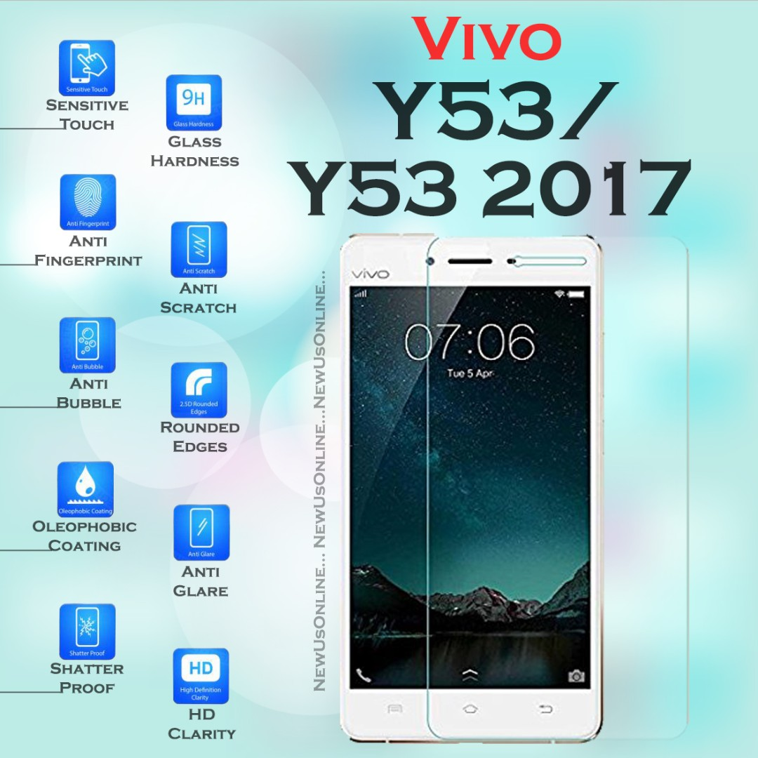 Vivo Y53 2017tempered Glass Screen Protector Hd Clear Mobile Ipad 2 3 4 Belk Smartcover Red Ultraslim And Light Phones Tablets Tablet Accessories On Carousell
