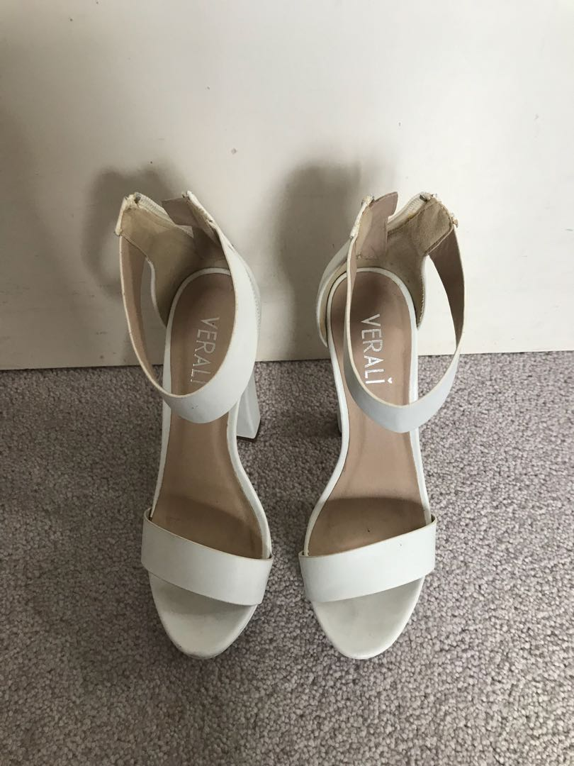 White high heels size 6
