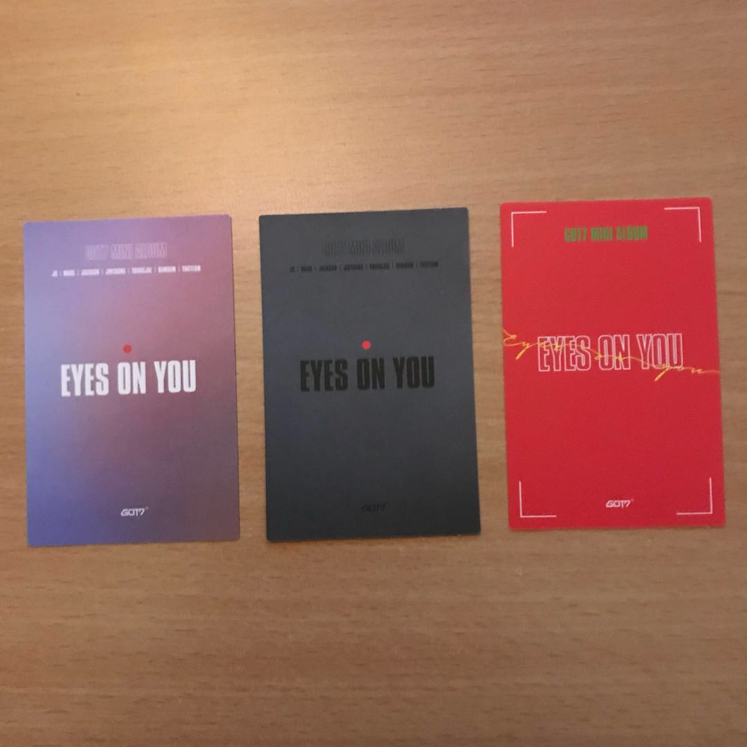 WTS GOT7 'EYES ON YOU' Photocards