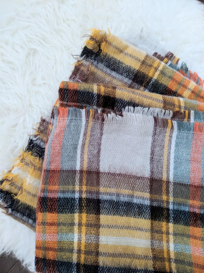 ZARA Plaid Blanket Scarf OS