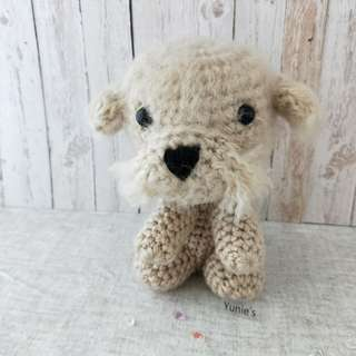 Crochet Dog amigurumi , Bichon Frise gifts, Crochet Bichon Frise Amigurumi, brown dog Amigurumi