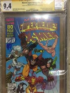 Marvel Super-Heroes #v2#8 CGC 9.4 signed by Stan Lee and Erik Larsen 1st App Of Squirrel Girl!