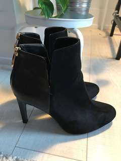 Zara suede and leather black bootie