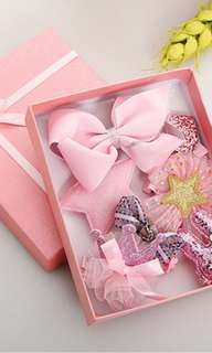 ~Ready stock~ BN Princess Girls' Assorted Hair Clips Accessories Set (Pink)