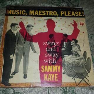 """Music, Maestro, Please!"" Swing And Sway with Sammy Kaye Vinyl Record"