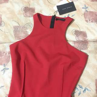 Zara Woman Bodycon Red sexy dress