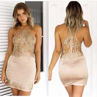 NEW Sexy champagne dress - S