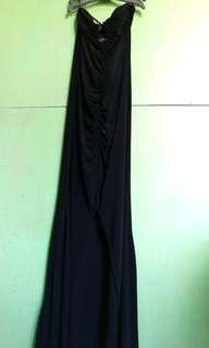 Tube Long Dress Stretchable - Black