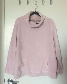 super soft fleece oversized sweater