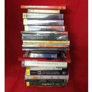 BOOK SELECTION: REFERENCE BOOKS & STUDY AIDS (B) Elementary/High School/College : Algebra Dictionaries Economics English Formulas Grammar Physics Pilipino/Tagalog Research Statistics Thesaurus Trigonometry