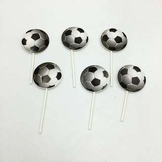 ⚽️Soccer Party Supplies - dessert toppers / cupcake toppers / party deco