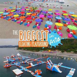 Inflatable island tickets