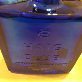 Haig club (empty bottle)