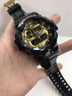 GA-710b BLACK GOLD GSHOCK WATCH