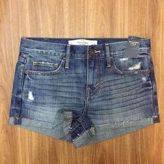 Abercrombie & Fitch Denim Shorts High-rise 牛仔短褲 短褲 高腰 A&F #2343