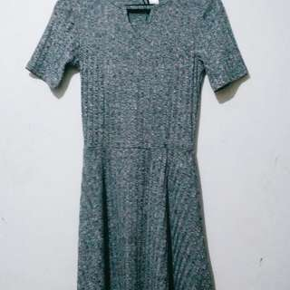 H.M divided gray dress