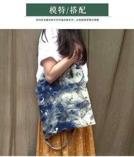 Calligraphy paintbrush tote bag