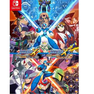 Rockman X Anniversary Collection 1 + 2 , 1 / 2- for Nintendo Switch Game (Pre-Order)