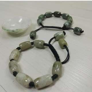 Ori Myanmar Jade bracelets and small plates