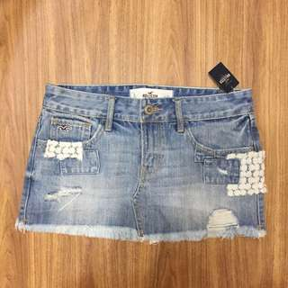 Hollister Denim Skirt 牛仔短裙 短裙 #1147