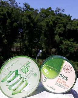 Original Aloe Vera Soothing Gel by Nature Republic and The SAEM