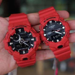 COUPLE RED GSHOCK WATCH