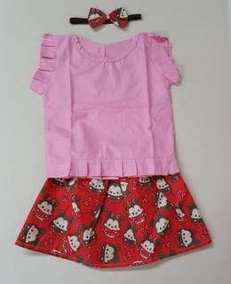 😗 tsum tsum mickey & minnie skirt set