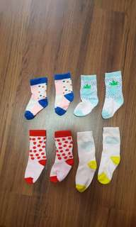 Baby Socks cotton on kids ( price for all 5 pairs )