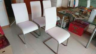 不銹鋼餐椅 4張