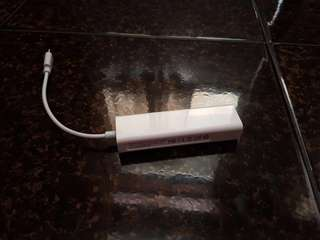 Type C Ethernet and USB Adapter for MacBook or any devices