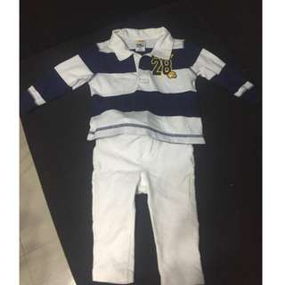 Varsity Longsleeve OOTD with Pants for 4 months and up