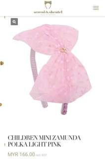 Children mini zamunda polka light pink