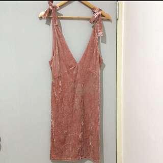 (With free gift) H&M velvet dress