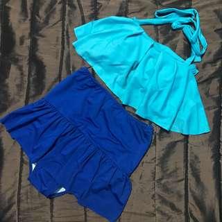 Blue High Waist Swimsuit
