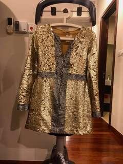 Farah khan sequins evening mini dress